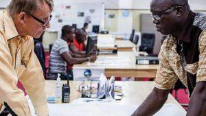O professor de saúde global Hans Rosling na Libéria