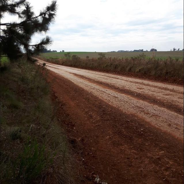 Estrada de terra a caminho de Jari (RS) (Foto: Arquivo pessoal)